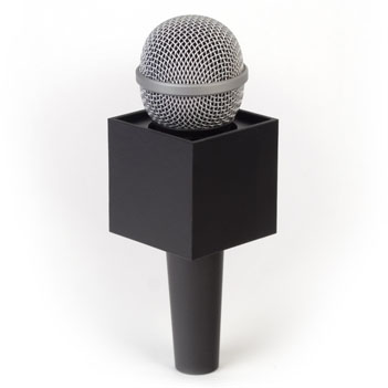 Square Mic Flag - Item # B-S225B - BENCHMARKUSA Promotional Products Inc.
