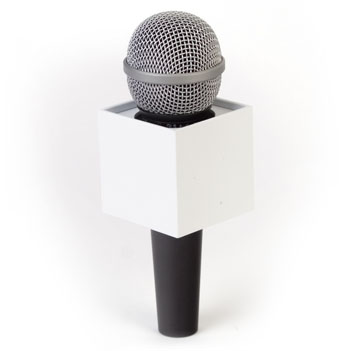 Square Mic Flag - Item # B-S225W - BENCHMARKUSA Promotional Products Inc.