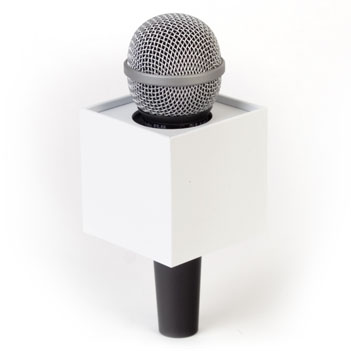Square Mic Flag - Item # B-S275W - BENCHMARKUSA Promotional Products Inc.