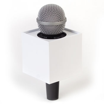 Square Mic Flag - Item # B-S300W - BENCHMARKUSA Promotional Products Inc.