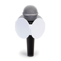 Four Sided (Round) Mic Flag - Round Mic Flag